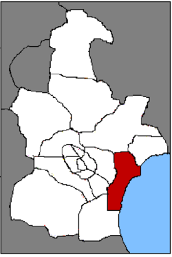 Location of Tanggu
