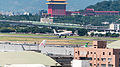China Eastern Airlines Airbus A330-343X B-6127 Final Approach at Taipei Songshan Airport 20140930b.jpg