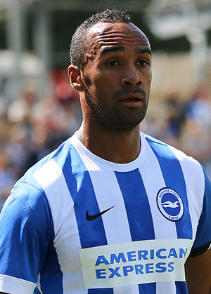 Chris O'Grady - O'Grady playing for Brighton & Hove Albion in 2015