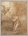Christ on the Mount of Olives (recto); Study of a Cypress (verso) MET DP826904.jpg
