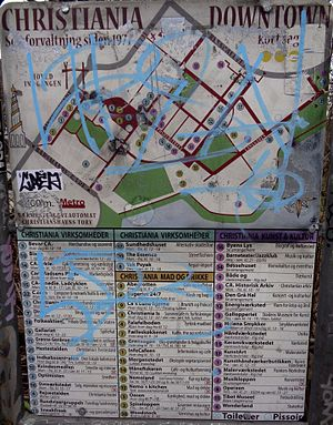 Freetown Christiania - Christiania Downtown Map