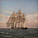 Christoffer Wilhelm Eckersberg - The corvette Najaden under sail - Google Art Project.jpg