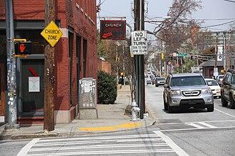 """Edgewood Avenue - Edgewood Avenue near Boulevard and """"Church"""" bar"""