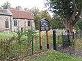 Church gates and churchyard, Old Newton - geograph.org.uk - 577141.jpg