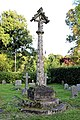 Church of St Andrew, Nuthurst, West Sussex - churchyard gabled cross column monument 02.jpg