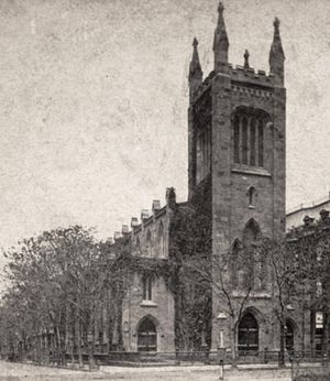 Church of the Ascension, Episcopal (Manhattan) - Image: Church of the Ascension (New York), from Robert N. Dennis collection of stereoscopic views crop