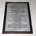 Church of the Holy Cross Great Ponton Lincolnshire England - Andrew, Caroline and Russell Wood, chancel plaque.jpg