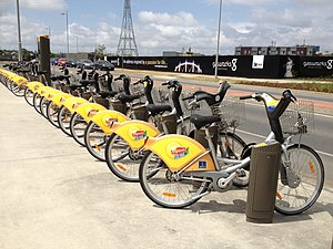 Newstead, Queensland - CityCycle sharing station in Newstead