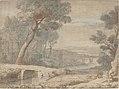 Claude Lorrain (suiveur de) - Le Repos pendant la fuite en Égypte (fin XVIIe siècle).jpg