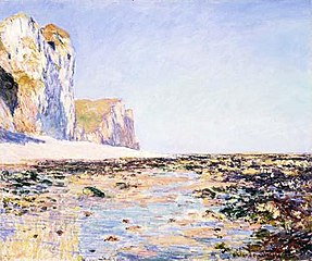 Seashore and Cliffs of Pourville in the Morning