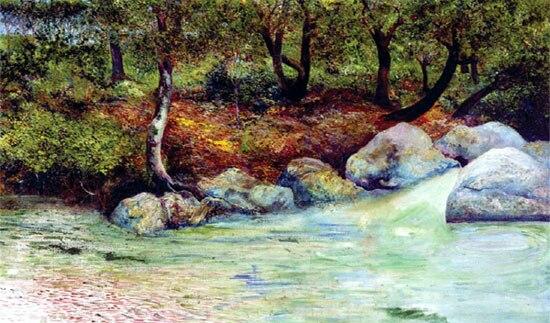 Clausell Paisaje con bosque y río