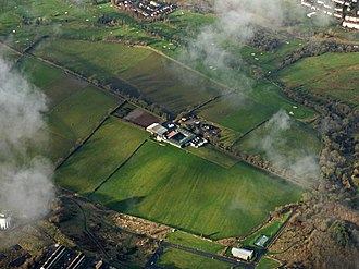 Cleddans - Cleddans Farm from the air