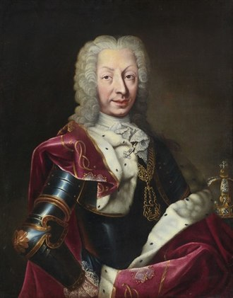 Charles Emmanuel III of Sardinia - Portrait by Maria Giovanna Clementi