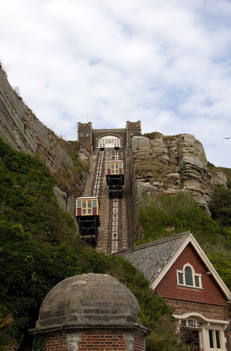 Funicular - East Hill Cliff Railway in Hastings, England