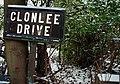 Clonlee Drive sign, Belfast - geograph.org.uk - 1655383.jpg