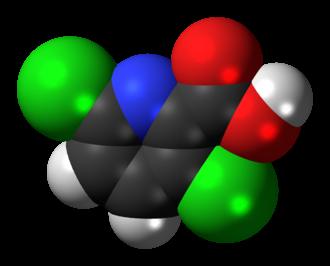 Clopyralid - Image: Clopyralid 3D spacefill