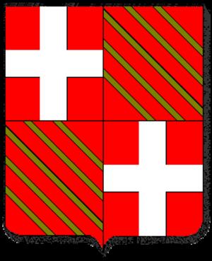 Antonio de Zúñiga - Coat of arms of Fabrizio del Carretto, (1453 - 1521),  43rd Great Master of the Order of Saint John, 1513 - 1521