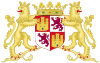 Coat of Arms of John II and Henry IV of Castile with Supporters.svg