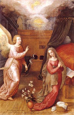 Gillis Coignet - Annunciation, 1584
