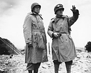 Omar Bradley & Collins at Cherbourg, June 1944