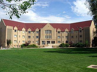 Colorado Women's College - Curtis Hall (now Gaebe Hall) at the former Colorado Women's College campus