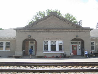 Columbus station train station served by Amtrak in Columbus, Wisconsin, USA