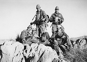 Zouave - A small detachment of France's 4th Regiment of Zouaves in the M'Sila region during the Algerian War, circa 1961.