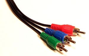 Component video cable with 3 RCA connectors.