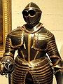 Composite three-quarter field armor for cuirassier, Netherlands and Savoy, 1610-1645, later blued - Higgins Armory Museum - DSC05615.JPG