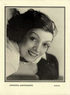 Conchita Montenegro Spanish actress, dancer, singer