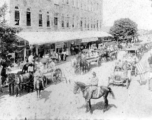 Wauchula, Florida - Confederate Memorial Day parade on Main Street, 1912