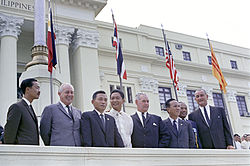A picture of a few SEATO nation leaders in Manila in 1966