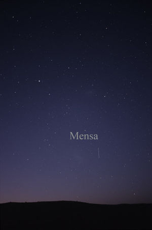 Mensa (constellation) - The constellation Mensa as it can be seen by the naked eye.