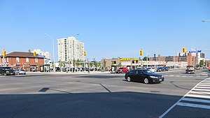 Cooksville (Mississauga) - At the original corners of the settlement, Dundas Street and Hurontario Street