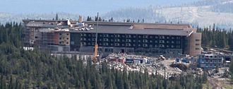 Copperhill Mountain Lodge - Copperhill Mountain Lodge during construction (August, 2008)