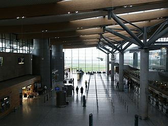 Cork Airport - Overlooking the check-in area from level 2