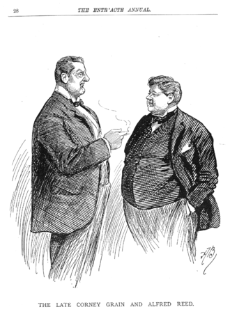 German Reed Entertainments - Corney Grain and Alfred Reed both died in 1895