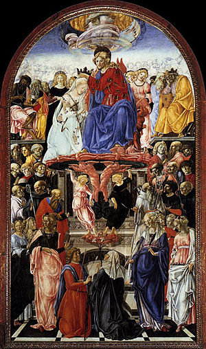Queen of Angels Foundation - The Coronation of the Virgin, Francesco di Giorgio Martini, 1472-73, Pinacoteca Nazionale, Siena)
