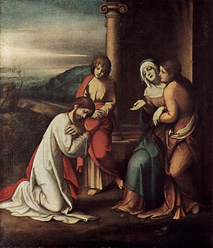 Christ taking leave of his Mother - Image: Correggio 001