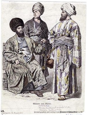 Uzbeks - Clothing of Uzbek men, Khiva
