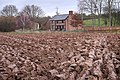 Cottages and Ploughed Field - geograph.org.uk - 723852.jpg
