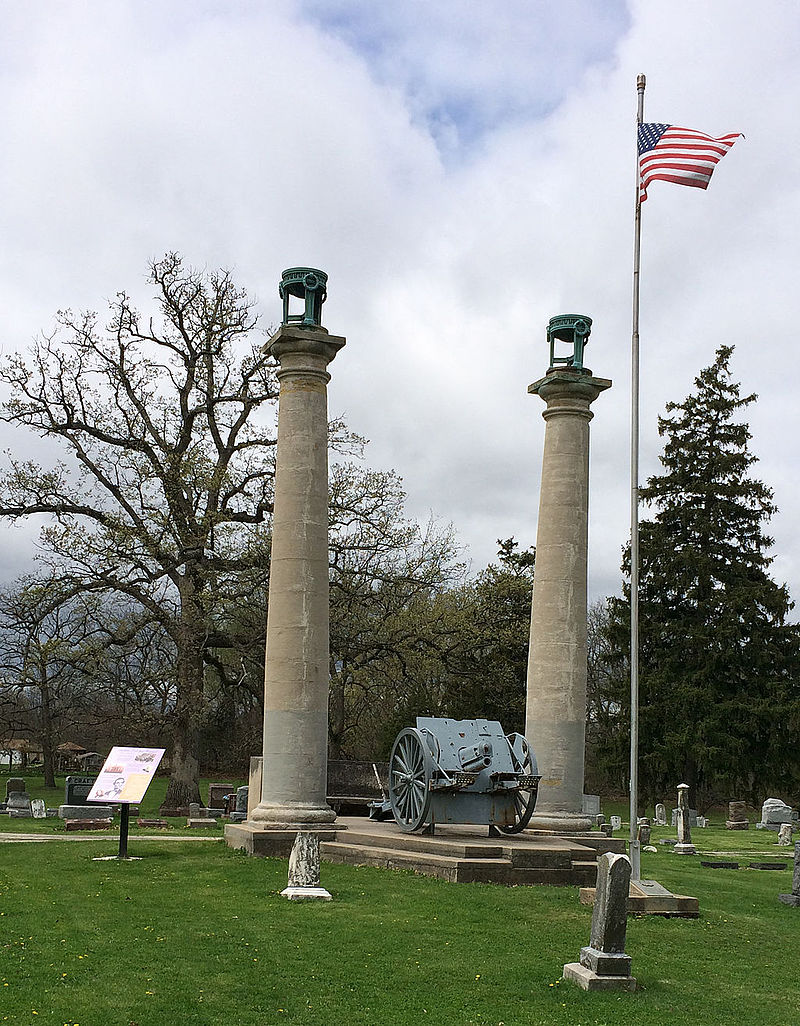 Illinois fulton county vermont - Courthouse Columns At Oak Hill Cemetery Jpg