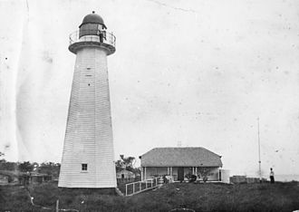 Moreton Island lighthouses - Cowan Cowan Point Light in 1899