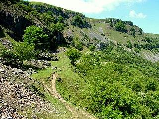 Craig y Cilau mountain in United Kingdom
