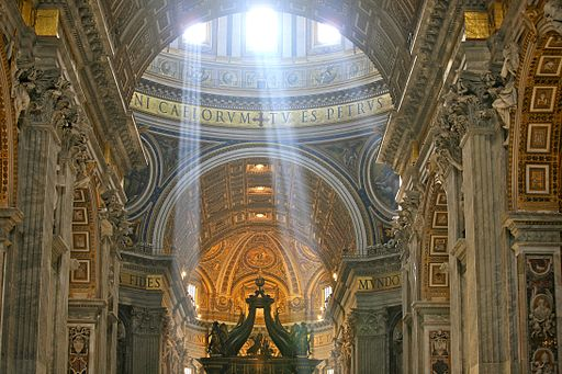 Crepuscular Rays at Noon in Saint Peters Basilica, Vatican City (5939069865)