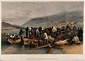 Crimean War, Balaklava; embarkation of the sick. Coloured li Wellcome V0015442.jpg