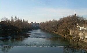 The Crişul Repede river
