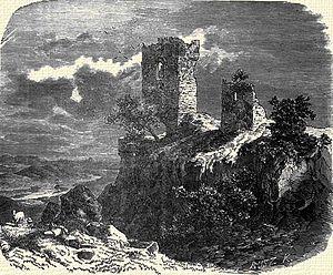 Ladislaus I Losonci - Csicsó Castle, depicted in 1866