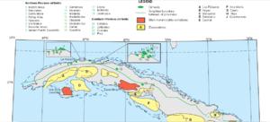 Oil reserves in Cuba - North Cuba oil fields