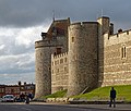 Curfew Tower and the west wall of the Castle. Windsor, UK.jpg